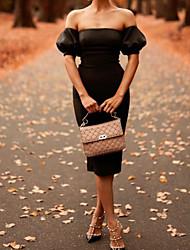 cheap -Women's Sheath Dress Knee Length Dress Black Short Sleeve Solid Color Backless Summer Off Shoulder Sexy 2021 S M L XL