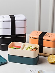 cheap -Bento Box 2 Tier Leakproof Lunch Box For Work/School Lunch Packing and Meal Prep Food Containers