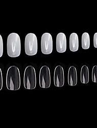 cheap -1200pcs round acrylic nails fake nails tips, 10 sizes, full cover short oval false nails artificial nail art manicure finger nails for nail salon diy nail design practice - clear, natural