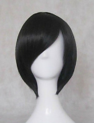 cheap -Black Butler Ciel Phantomhive Cosplay Wigs Unisex Short Bob 12 inch Heat Resistant Fiber Straight Black Pink Teen Adults' Anime Wig