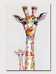 cheap -Mintura Large Size Hand Painted Abstract Giraffe Animasl Oil Painting on Canvas Pop Art Modern Wall Picture For Home Decoration No Framed Rolled Without Frame