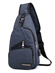 cheap -Men's Bags Oxford Cloth Sling Shoulder Bag Zipper for Daily Black / Dark Blue / Gray