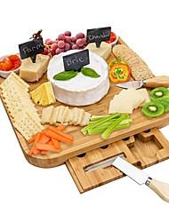 povoljno -daska za sir i set noža s držačem za biskvit od sira s kredom od bambusa