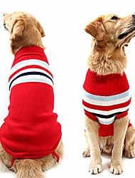cheap -dog classic style stripes turtleneck sweater winter warm clothing for medium and large dog