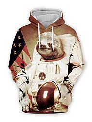 cheap -Men's Pullover Hoodie Sweatshirt Graphic Casual Basic Hoodies Sweatshirts  Khaki