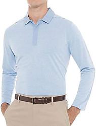 cheap -long sleeve polo shirts for men - moisture wicking dry fit collar golf shirt slate blue