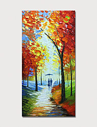 cheap -Hand Painted Canvas Oilpainting Abstract Landscape by Knife Home Decoration with Frame Painting Ready to Hang With Stretched Frame