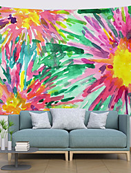 cheap -Ink Painting Style Wall Tapestry Art Decor Blanket Curtain Hanging Home Bedroom Living Room Decoration Abstract Flower Floral