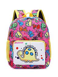 cheap -Large Capacity School Bag Unisex Oxford Pattern / Print Zipper Character School Blue / Purple / Red / Yellow / Blushing Pink