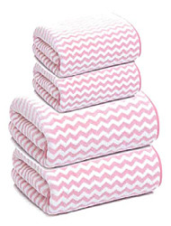 cheap -Bath Towel set of 4 striped Bath Towel Set 2 Bath Towels 2 Hand Towels Super Soft Highly Absorbent Multi Color Stripes