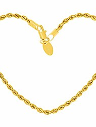cheap -3mm rope chain anklet for women & men 24k gold plated bracelet (gold-plated-bronze, 9.0)