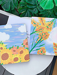 cheap -Case For Apple iPad  Mini 3 2 1 iPad Mini 4 iPad Mini 5 with Stand Flip Full Body Cases PU Leather TPU Protective Stand Cover Pattern cute lovely flower daisy oil painting  sunflower