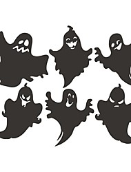 cheap -Halloween Stickers Funny Ghost Living Room Horror Self Adhesive Graffiti Wall Stickers 43.5*34cm