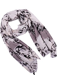 cheap -Women's Active Polyester Rectangle Scarf - Floral Washable