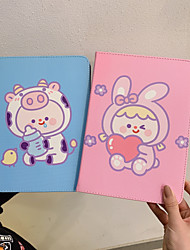 cheap -Case For Apple iPad  Mini 3 2 1 iPad Mini 4 iPad Mini 5 with Stand Flip Full Body Cases PU Leather TPU Protective Stand Cover Pattern cute lovely rabbit cow