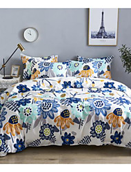 cheap -Botanical Floral Print 3-Piece Duvet Cover Set 100% Cotton Hotel Bedding Sets Comforter Cover(Include 1 Duvet Cover and 1or 2 Pillowcases)