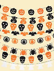 cheap -Halloween Party Toys Halloween Banner 6 pcs Skull Pumpkin Masquerade Random Style Non-woven Fabrics Trick or Treat Halloween Party Favors Supplies