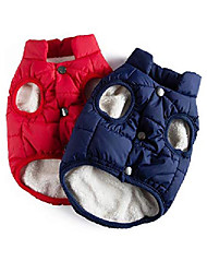 cheap -pet dog jacket 2 layers fleece lined warm dog jacket soft windproof small dog coat for winter cold weather