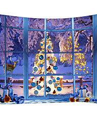 cheap -Christmas Weihnachten Santa Claus Wall Tapestry Art Decor Blanket Curtain Picnic Tablecloth Hanging Home Bedroom Living Room Dorm Decoration 3D Window Christmas Tree Gift Snow Elk Polyester