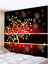 cheap -Christmas Weihnachten Santa Claus Wall Tapestry Art Decor Blanket Curtain Picnic Tablecloth Hanging Home Bedroom Living Room Dorm Decoration Merry Christmas Weihnachten Golden Tree Fruit Polyester