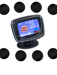 cheap -A85 Car Auto Vehicle Reverse Backup Radar System with 8 Parking Sensors Distance Detection  LCD Distance Display  Sound Warning buzzing