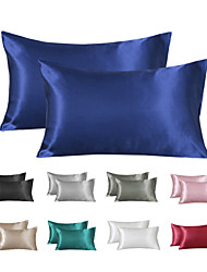 cheap -Satin Pillowcase for Hair and Skin 2 Pack Silky Satin Pillow Cases No Zipper Pillow Covers with Envelope Closure