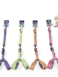 cheap -Dog Cat Harness Leash Portable Trainer Vest Escape Proof Geometry Nylon Golden Retriever Japanese Spitz Beagle Bulldog Shiba Inu Shih Tzu Purple Pink Orange Green 1 set