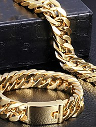 cheap -Thick Chain Fashion Baroque Steel Bracelet Jewelry Gold For Anniversary Party Evening