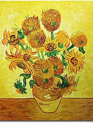 cheap -100% Hand Painted Vincent Van Gogh Flower Oil Painting Collection Art Home Decorative Canvas  Wall Picture Living Room Free Shipping Rolled Without Frame