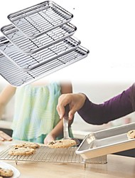 cheap -Stainless Steel Baking Pan Baking Tray with Cooling Rack 4 Sizes