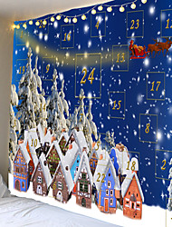 cheap -Christmas Weihnachten Santa Claus Wall Tapestry Art Decor Blanket Curtain Picnic Tablecloth Hanging Home Bedroom Living Room Dorm Decoration Elk Christmas Tree Game Score Gift Polyester