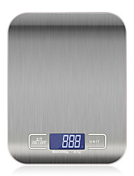 cheap -10kg OZ/ML/LB/G Kitchen Scale Stainless Steel Weighing Scale Food Diet Postal Balance Measuring Tool LCD Electronic Scales Use 2 AAA batteries not included