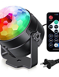 cheap -7 Color DJ Strobe Led Disco Ball 3W Sound Control Laser Projector RGB Stage Light Effect Light Music Christmas Party Dance Decor