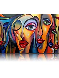 cheap -Beautiful Wall Pictures Cool Girl Figure Portrait Oil Paintings 100% Hand painted Abstract People Oil Paintings Canvas Free Shipping Rolled Without Frame