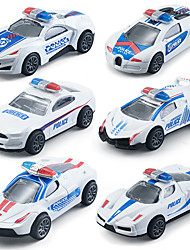 cheap -Pull Back Car / Inertia Car Pull Back Vehicle Mini Police car Simulation Drop-resistant Alloy Mini Car Vehicles Toys for Party Favor or Kids Birthday Gift Random Color 3 pcs / Kid's