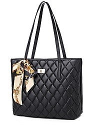 cheap -Women's Bags PU Leather Crossbody Bag Zipper Tote Daily Holiday Black