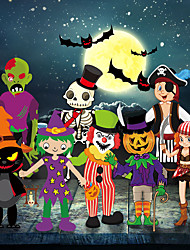 cheap -Halloween Party Toys Pendant 8 pcs Skull Cartoon DIY Random Color Paper Kid's Adults Trick or Treat Halloween Party Favors Supplies