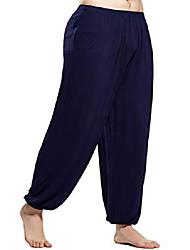 cheap -men's loose fit super soft spandex pilates yoga pants with elastic bottom (royal blue,l)