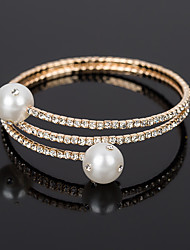 cheap -Women's White Bracelet Bangles Layered Totem Series Trendy Fashion Alloy Bracelet Jewelry Rose Gold / Silver For Daily