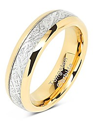cheap -6mm mens& womens tungsten carbide ring meteorite inlay wedding band size 6-13 (5.5)