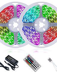 cheap -LED Strip Lights 32.8ft 10M RGB with 44 Keys IR Remote Controller and 100-240V Adapter Color Changing 600LEDs SMD 2835 SMD 5050 Tiktok Lights for Home Bedroom Kitchen TV Back Lights DIY Decor