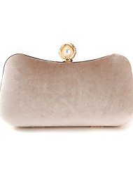 cheap -Women's Bags Velvet Evening Bag Pearls 2020 Party Event / Party Wine Black Almond Green