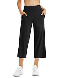 رخيصةأون -سروال اليوغا اليوغا capleg للنساء البطن مراقبة عالية الخصر السراويل تجريب مضيئة مع جيوب& # 40 ؛ xx- كبير ، أسود& # 41 ؛