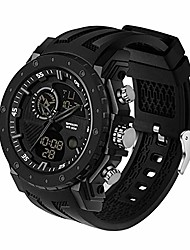 cheap -men's digital watch, dual-display multifunctional sports wrist watch with alarm and backlight (silver)