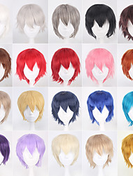 cheap -Naruto Cosplay Wigs Men's Women's 14 inch Heat Resistant Fiber Anime Wig