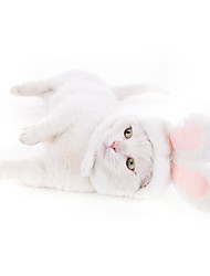 cheap -Dog Cat Hats, Caps & Bandanas Bandanas & Hats Rabbit / Bunny Cat Headwarmers Headpieces Christmas Party Dog Clothes White Costume Cotton / Birthday / Halloween