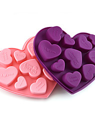 cheap -Love Heart Shape Silicone Molds For Diy Candy Chocolate Mould Fondant Cake Decorating Tools Kitchen Bakeware