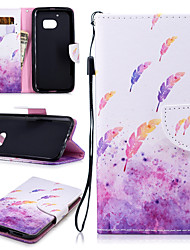cheap -Case For HTC One M8 M9 M10 U11 Card Holder Shockproof Pattern Full Body Cases Food Butterfly Animal PU Leather TPU