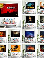 cheap -Wall Tapestry Pumpkin Bat Print Halloween Carpet Home Decor Night Moon Hippie Tapestry Wall Hanging Blanket Decor