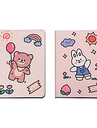 cheap -Case For Apple iPad  air1 air2 pro 9.7inch 2017 2018 with Stand Flip Full Body Cases PU Leather TPU Protective Stand Cover Pattern bear cute lovely rabbit sun cloud